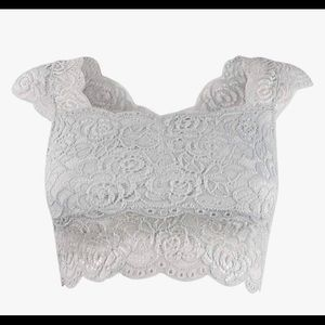 Free People Intimately Lace Crop Top M